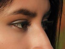 Olhos fêmeas consideravelmente adolescentes Fotos de Stock Royalty Free