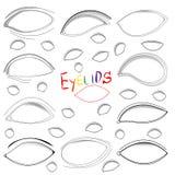 Olhos fêmeas e testas da mulher ajustados Imagem de Stock Royalty Free