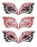 Olhos flamejantes tribais ilustração do vetor
