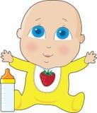 Olhos grandes do bebê Imagens de Stock Royalty Free