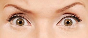 Olhos humanos loucos Fotografia de Stock Royalty Free