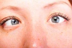 Olhos loucos Fotos de Stock Royalty Free