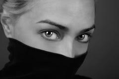 Olhos misteriosos Fotografia de Stock Royalty Free