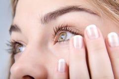 Olhos olhando fixamente Fotografia de Stock