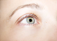 Olhos perspicaz do olhar foto de stock