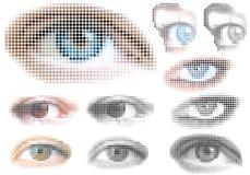 Olhos pontilhados Imagens de Stock
