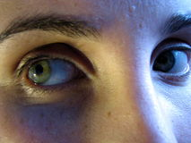 Olhos Scared Imagens de Stock