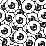 Olhos sem emenda do teste padrão Fotografia de Stock Royalty Free