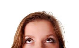 Olhos surpreendidos fêmea Foto de Stock