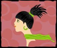 Olhos verdes ilustração do vetor