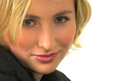 Olhos verdes #4 da mulher loura Fotografia de Stock