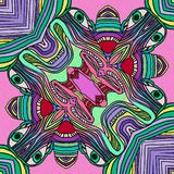 Olhos verdes Formulário abstrato ilustração royalty free
