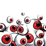 Olhos vermelhos ilustração stock