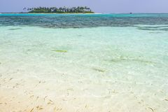 Olhuveli ö, Maldiverna Royaltyfria Bilder