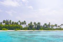 Olhuveli ö, Maldiverna Arkivbild