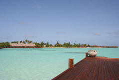 Olhuveli - maldivian island Royalty Free Stock Photos