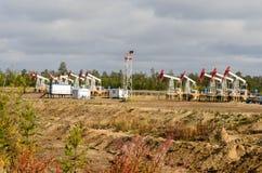 Oli pumpstålar som vänds av för reparation Arkivfoton