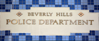 Olice department of the Beverly Hills Royalty Free Stock Image