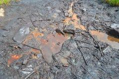 Olie in aard en ecologische ramp Stock Fotografie