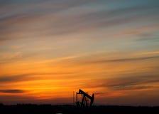 olie boortoren Stock Afbeeldingen