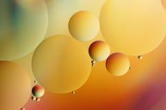 Olie die op water drijft Royalty-vrije Stock Afbeelding