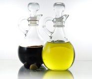 Olie en azijn royalty-vrije stock afbeelding