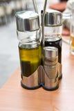 Olie en Azijn Royalty-vrije Stock Afbeeldingen