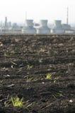 Olie en chemische raffinaderij Royalty-vrije Stock Afbeeldingen