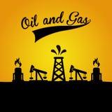 Olie en gas royalty-vrije illustratie