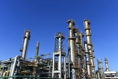 Olie en gas de industrie, petrochemische installatie royalty-vrije stock fotografie