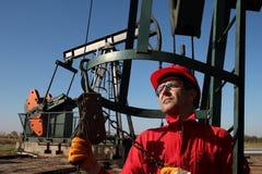 Olie en gas de industriearbeider Stock Fotografie