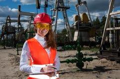 Olie en gas de industriearbeider royalty-vrije stock foto's