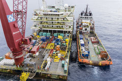 Olie en gas industriële beroeps Stock Foto