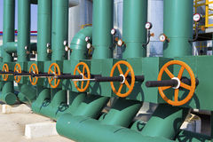 Olie en gasverwerkingsinstallatie Stock Fotografie