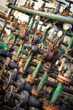 Olie en gasverwerkingsklep Stock Foto