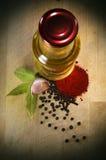 Olie en kruid Stock Foto