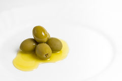Olie en olijf Stock Fotografie