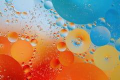 Olie en water Stock Afbeeldingen