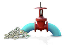 Olie-gas zaken Royalty-vrije Stock Foto's