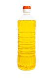 Olie in geïsoleerded fles Royalty-vrije Stock Fotografie
