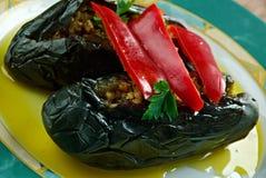 Olie genezen aubergines Stock Foto's