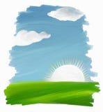 Olie geschilderd landschap Royalty-vrije Stock Foto's