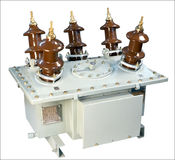 Olie-gevulde Huidige Transformator Royalty-vrije Stock Fotografie