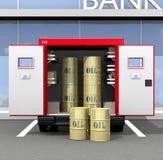 Olie in gouden vaten Royalty-vrije Stock Foto