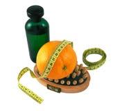 Olie, massage, sinaasappel Stock Foto's