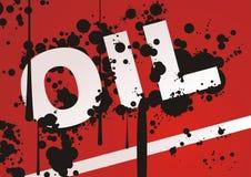 Olie met zwarte dalingen Royalty-vrije Stock Afbeeldingen