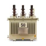Olie ondergedompelde transformator Stock Afbeelding