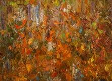 Olie op canvas Stock Afbeelding