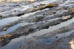 Olie op de oppervlakte van de aarde Royalty-vrije Stock Afbeelding