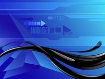 Olie op een blauwe achtergrond Vector Illustratie